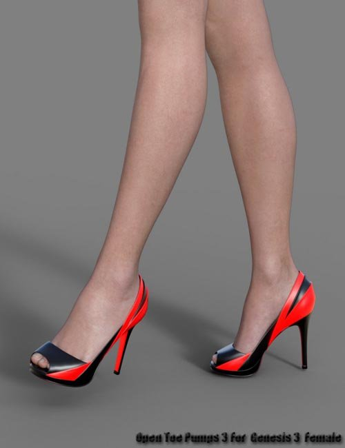 Open Toe Pumps 3 for Genesis 3 Female(s)