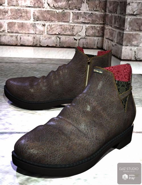 Short Gore Boots for Genesis 3 Male(s)