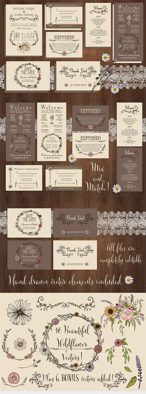 Wildflower Wedding Invitation Suite - CM 219148
