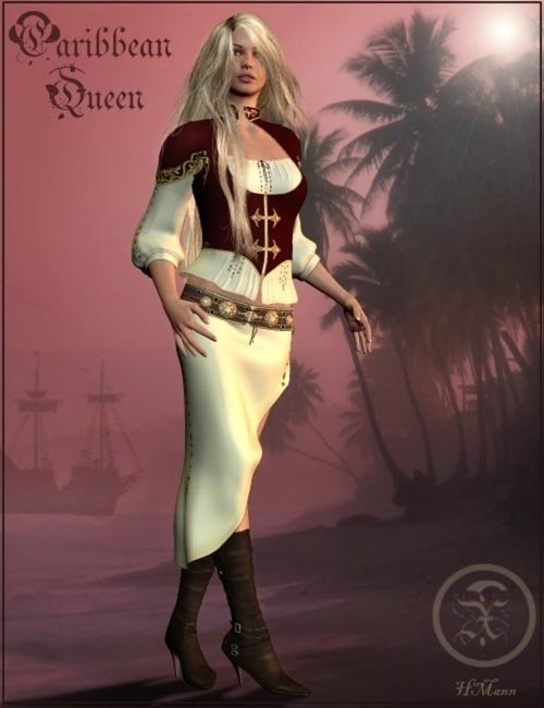 Caribbean Queen Clothes V4 & A4