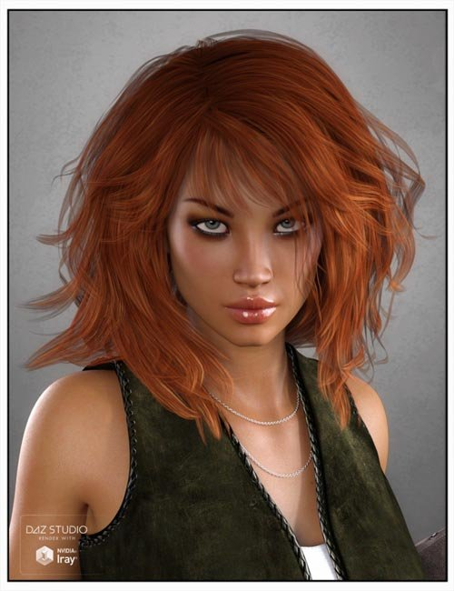 Betty Hair for Genesis 3 Female(s), Genesis 2 Female(s) and Victoria 4