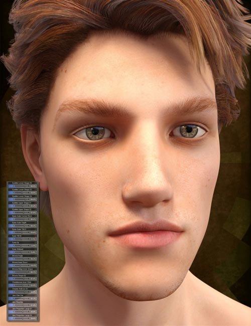 Genesis 3 Male Head Morph Resource Kit 2