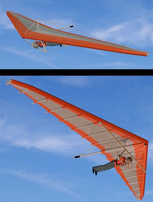 Hang Glider with Movements and Helmet Models