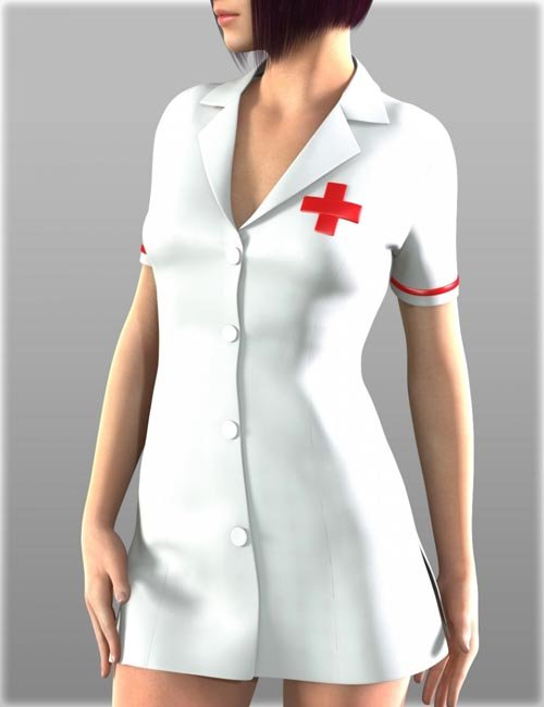 Sexy Nurse Uniform for Genesis 2 Female(s)