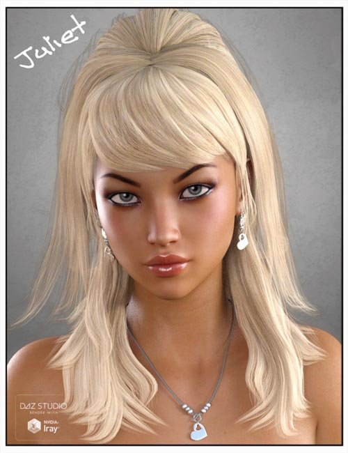 Juliet Hair for Genesis 3 Female(s), Genesis 2 Female(s) and Victoria 4