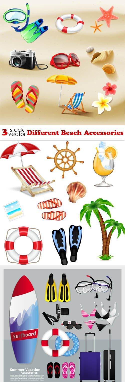 Vectors - Different Beach Accessories