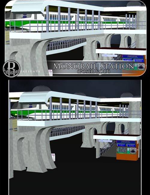 Monorail Station (Poser & OBJ)