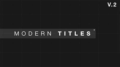 9 Modern Glitch Titles - Project for After Effects (Videohive)