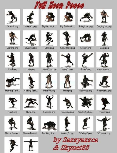 Lycan Full Moon Poses