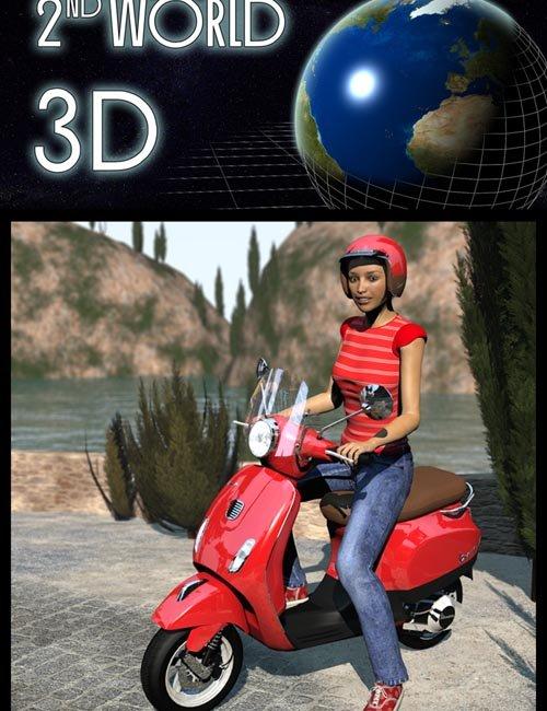 Vespa scooter & helmet