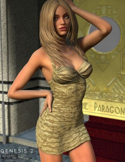 Cosmo Dress for Genesis 2 Female(s)