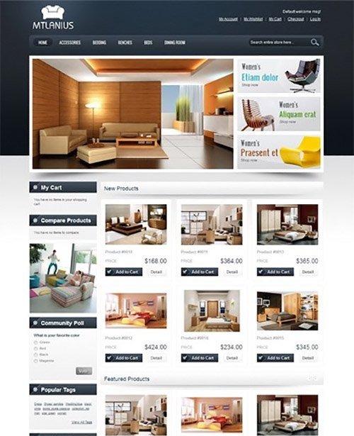 MagentoCommerce - MT Lanius v2.0.4 - Furniture Magento Themes