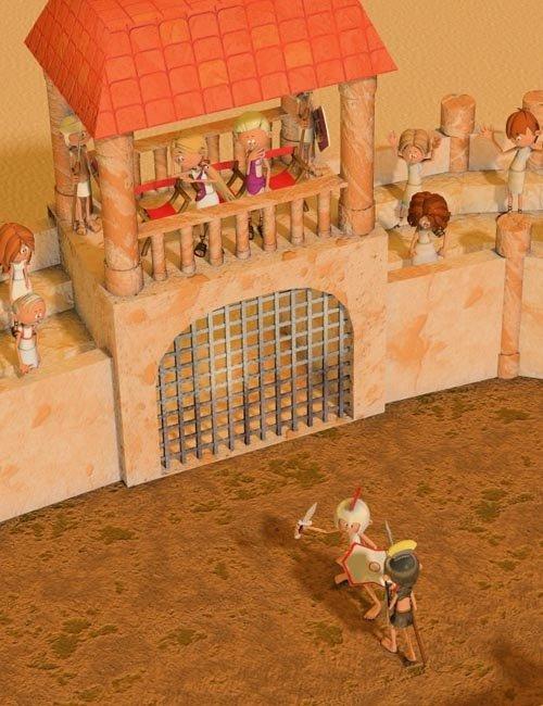 3DToons Roman Arena