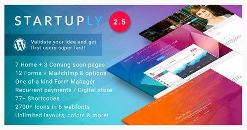 ThemeForest - Startuply v2.5.2 - Multi-Purpose Startup Theme - 9055667