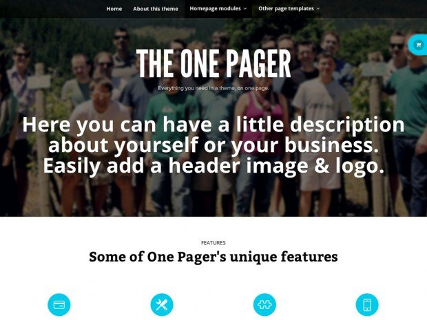WooThemes - The One Pager v1.2.16 - WordPress Theme