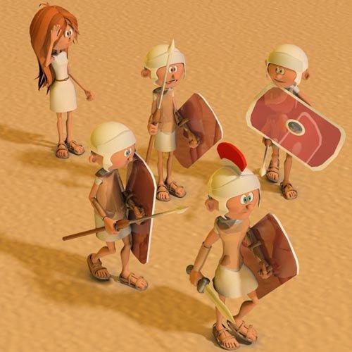 3DToons Roman Legionary and Centurion