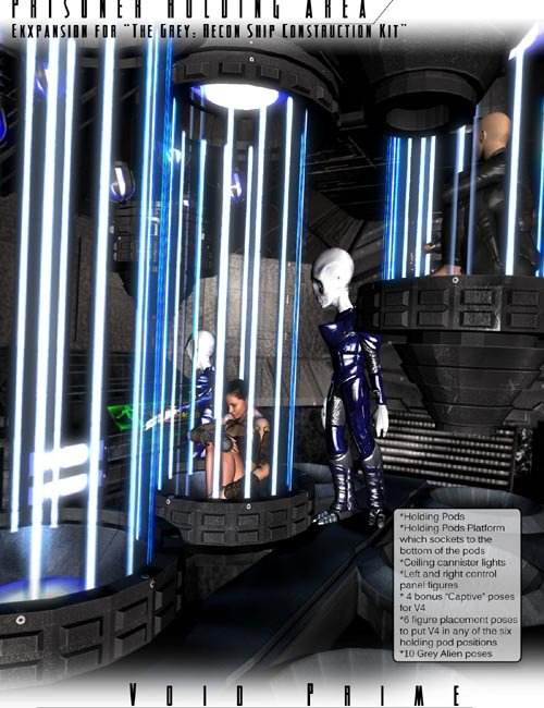 Void Prime: Grey Alien Recon Ship Construction Kit - Holding Cells