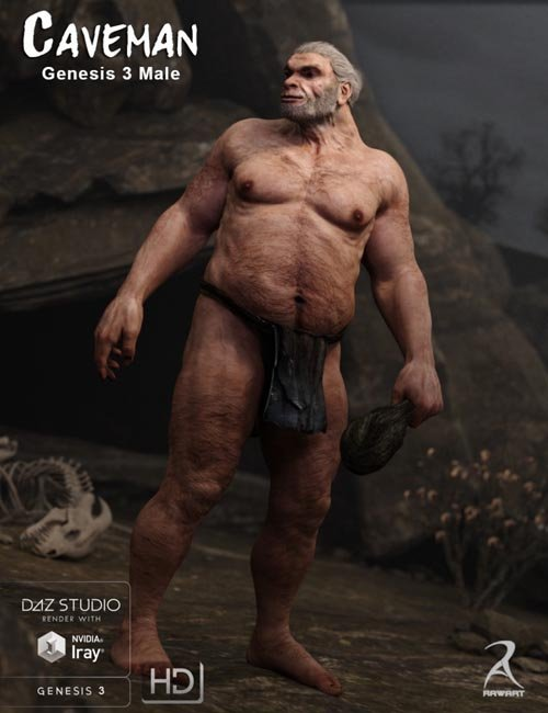 Caveman for Genesis 3 Male