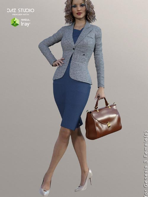 Business Outfits Package for Genesis 3 Females