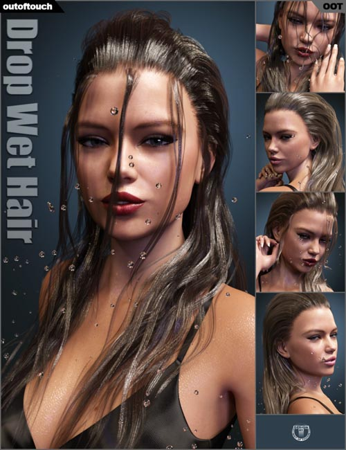 Drop Wet Hair for Genesis 3 Female(s) (Update Genesis 8)