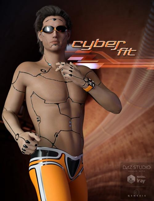 Cyber Fit Outfit for Genesis 3 Male(s)