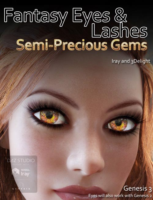 Fantasy Eyes - Semi Precious Gems and Lashes