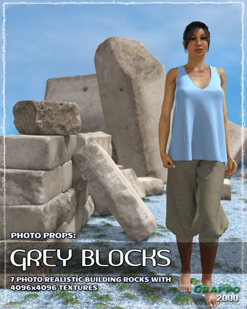 Photo Props: Grey Blocks