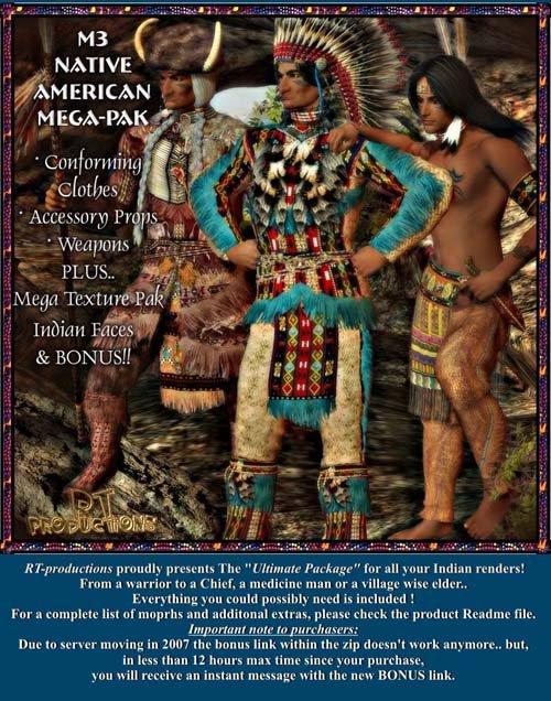 RT-productions M3-Native American MEGA PAK
