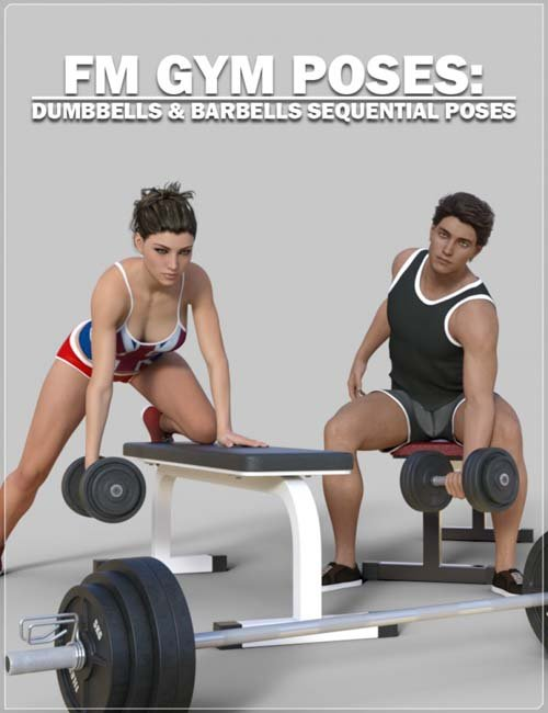 FM Gym Poses: Dumbbells & Barbells