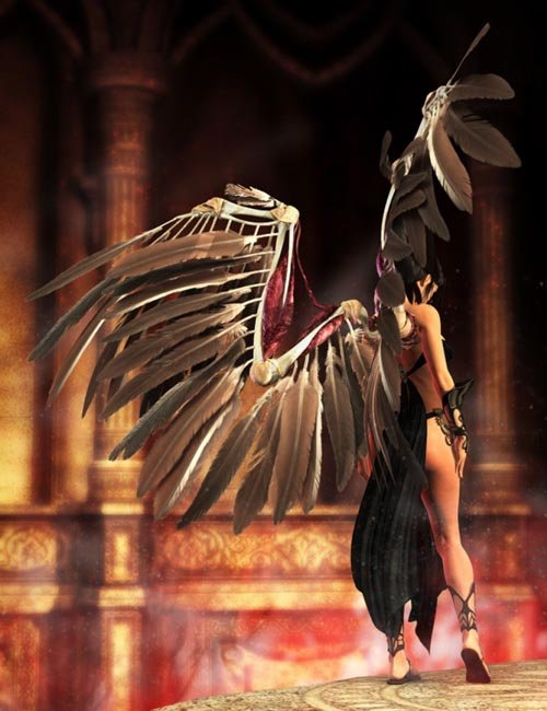 Wings of Despair for DAZ Studio