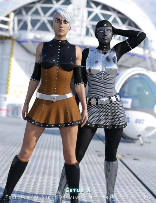 Cetus X Textures for Super Bodysuit for Genesis 3 Female(s)