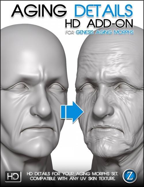 Aging Details HD for Genesis Aging Morphs