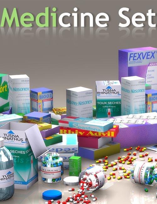 Medicine Set for Poser