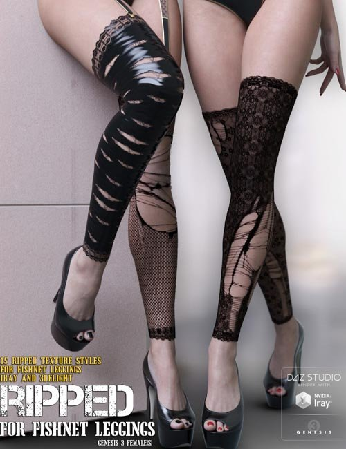 Ripped for Fishnet Leggings