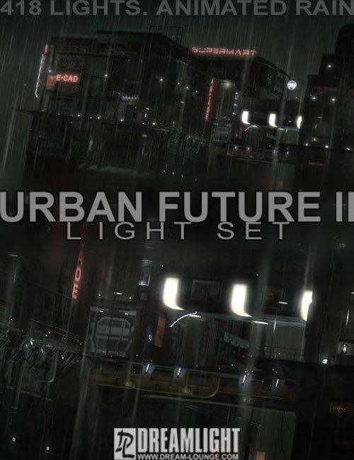 [ iray update ] Urban Future 2 Dreamlight Light Set With Animated Rain