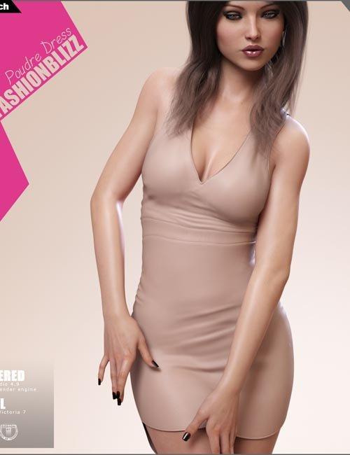 Fashion Blizz: Poudre Dress for Genesis 3 Female(s)