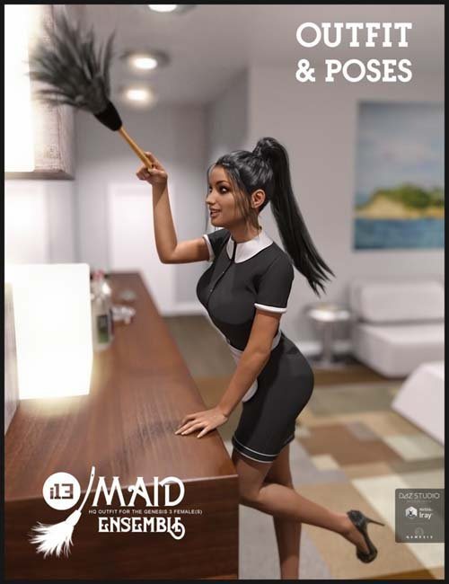 i13 Maid Ensemble and Poses for the Genesis 3 Female(s)