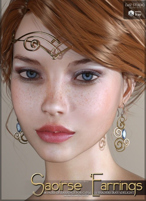 SV's Saoirse Earrings for Genesis 3 Female(s)