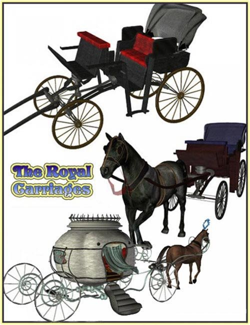 Royal Carriages for Millennium Horse [ custom iray version ]