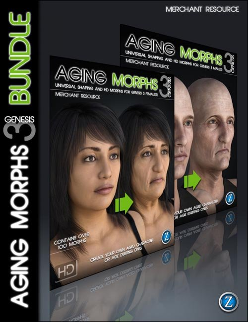 Aging Morphs 3 for Genesis 3 Bundle