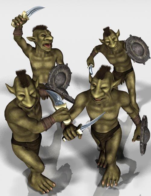 Goblin Warrior Poses