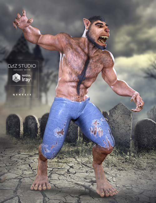 Midnight Lycan for Genesis 3 Male