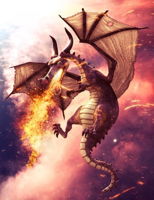 Mythical Dragon for Daz Dragon 3