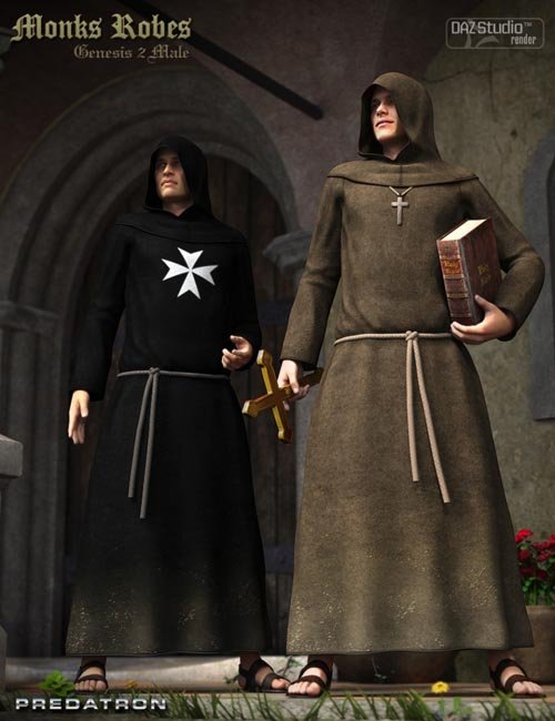 Monks Robes for Genesis 2 Male(s)