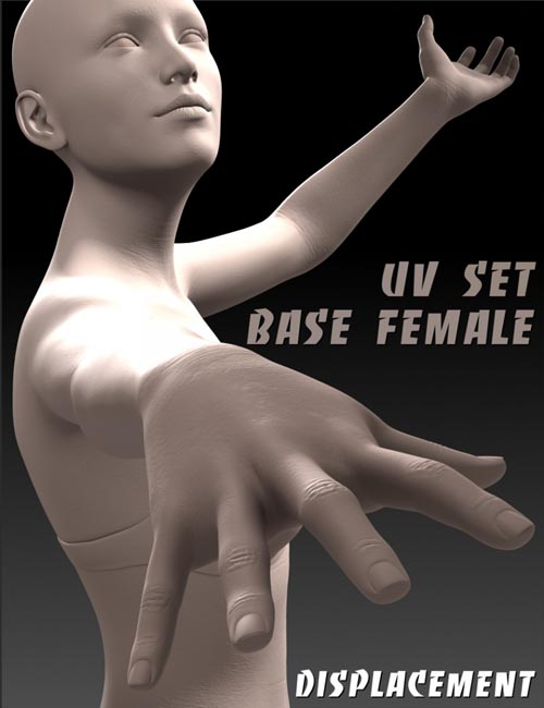 Ultra Detailed Displacement Maps for Genesis 3 Base Female