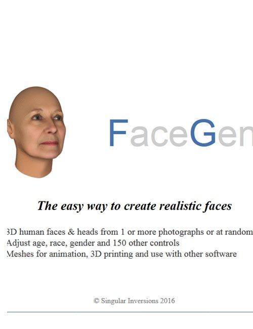 Singular Inversions FaceGen Artist Pro 1.10