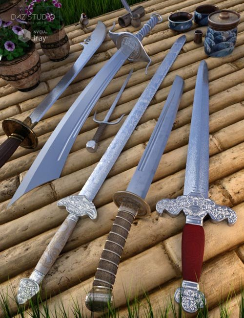 Chinese Blades for Genesis 3 and 8 Male(s) and Female(s)