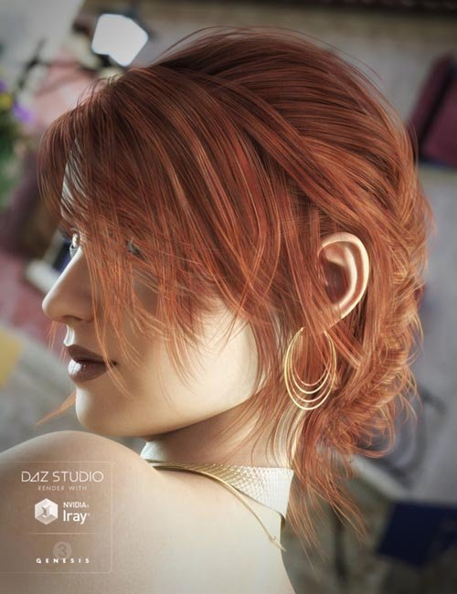 French Twist Hair for Genesis 3 Female(s)