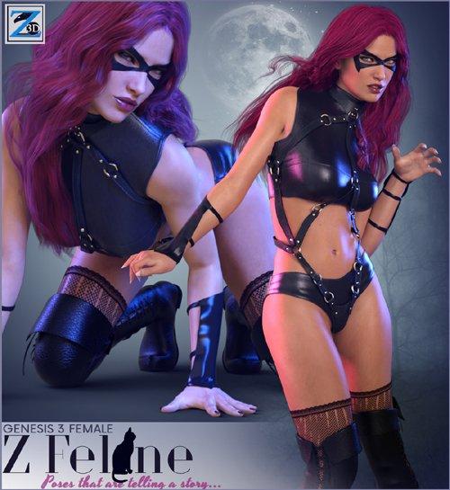 Z Feline - Poses for the Genesis 3 Female(s)