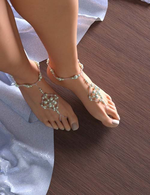 Barefoot Pearls for Genesis 3 Female(s)